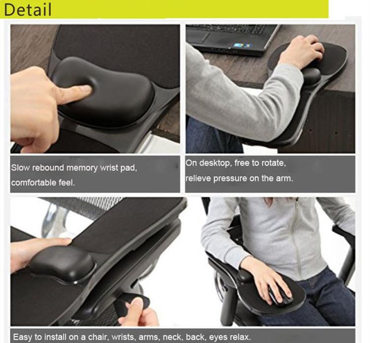 ergonomic chair singapore evenflo easy fold high home office computer arm rest desk wrist mouse pad support-black sale - banggood.com
