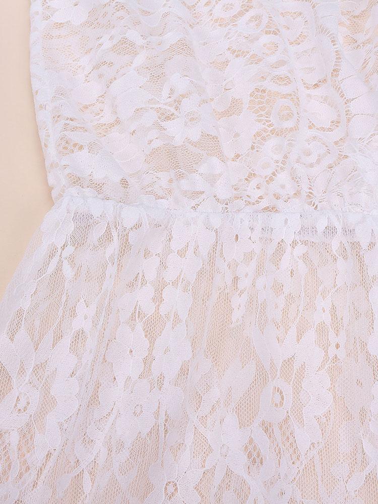 Lace Long Sleeve Maxi Dress