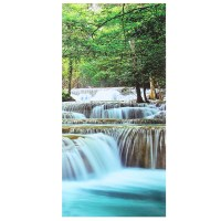 30x60CM 5PCS Canvas Painting Forest Waterfall Wall Art ...