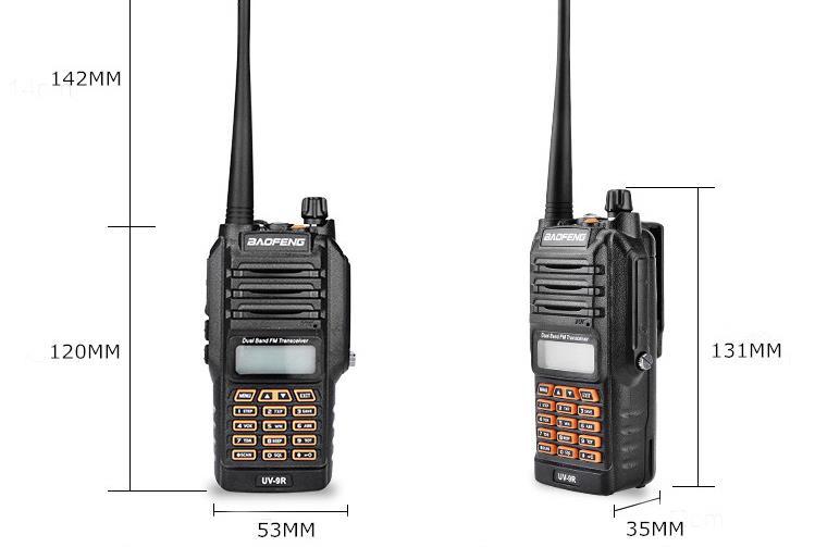 BAOFENG-UV-9R Walkie Talkie IP67 Waterproof Dual Band 136