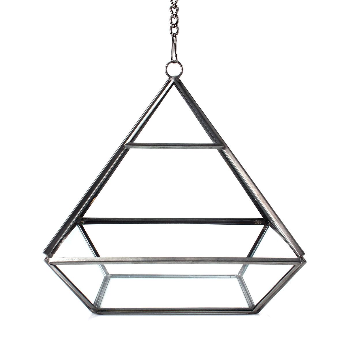 Triangle Greenhouse DIY Micro Landscape Glass Terrarium