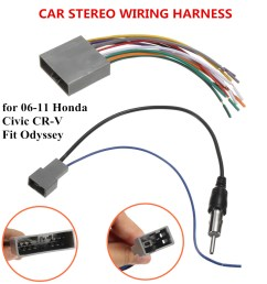car stereo radio player wire harness dvd antenna for honda car audio wiring diagrams honda cr v [ 1200 x 1200 Pixel ]