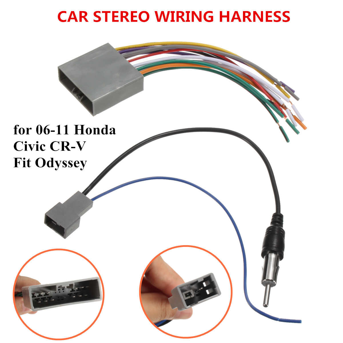 hight resolution of car stereo radio player wire harness dvd antenna for honda car audio wiring diagrams honda cr v