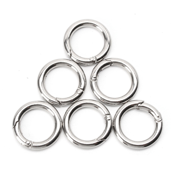 6pcs 25mm Snap Clip Hook Mini Carabiner For Keychain
