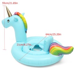Baby Blow Up Ring Chair Wooden Swing Stand Kids Inflatable Flamingo Unicorn Swim Float Raft