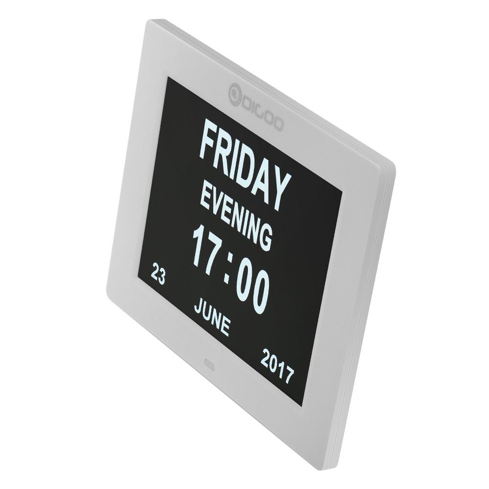 Digoo DGK8 Horloge de jour de lhorloge lectronique de la mmoire de 8 avec une grandeur