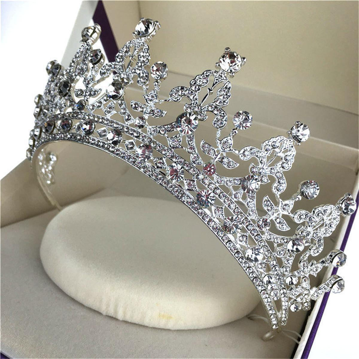 Bride Crystal Rhinestone Crown Vintage Wedding Bridal