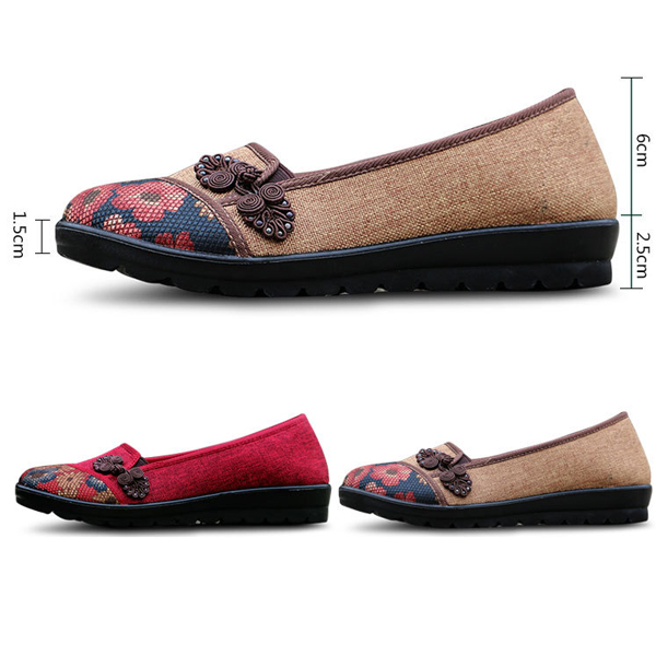 Women Leisure Chic Shoes Breathable Slip-on Loafers Sweat-absorption Flats