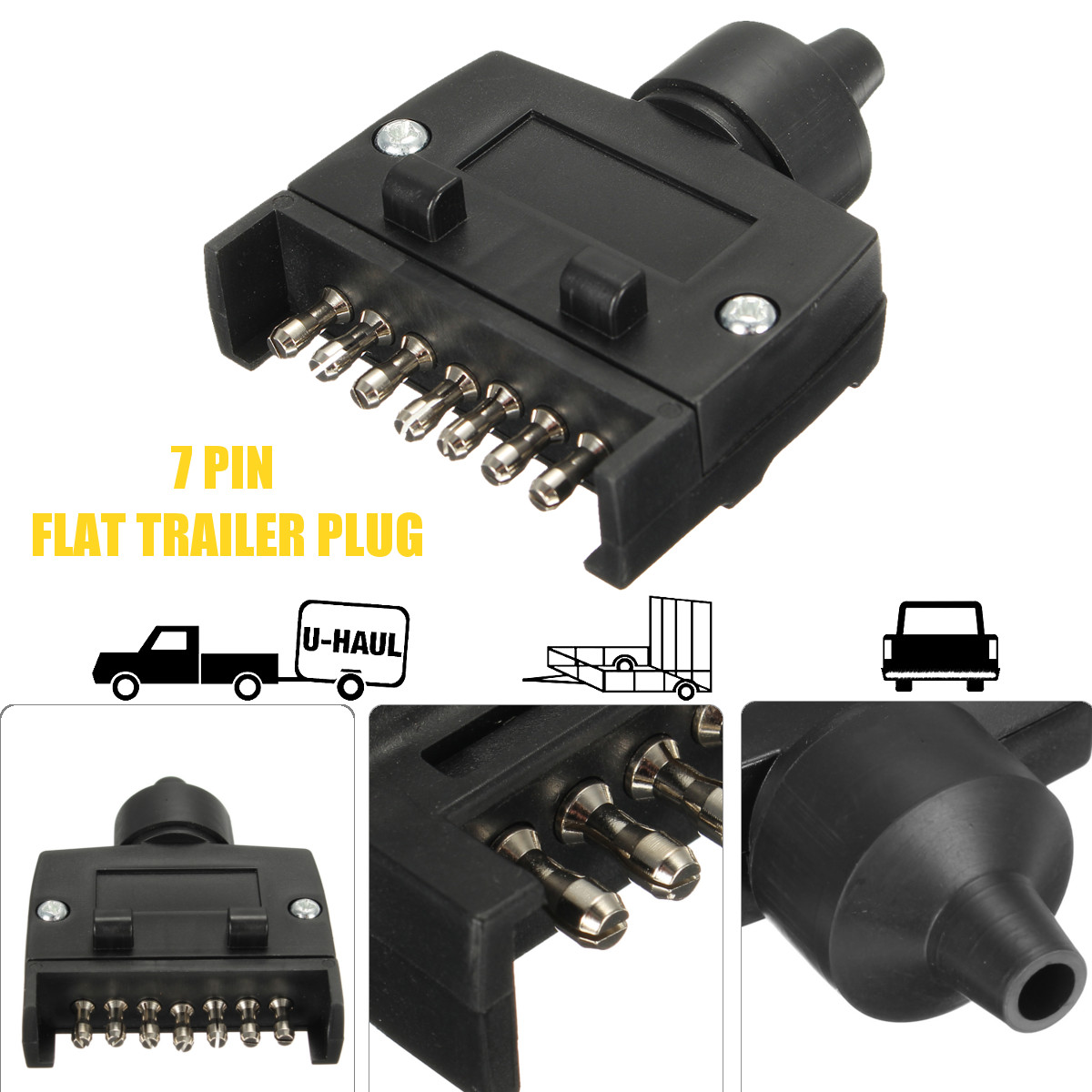 wiring diagram for 7 pin flat trailer connector pumpkin seed male plug socket