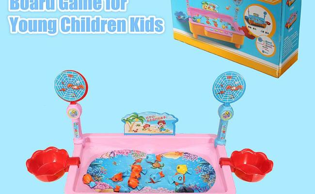 Educational Angling Colorful Toy Magnetic Fishing Board