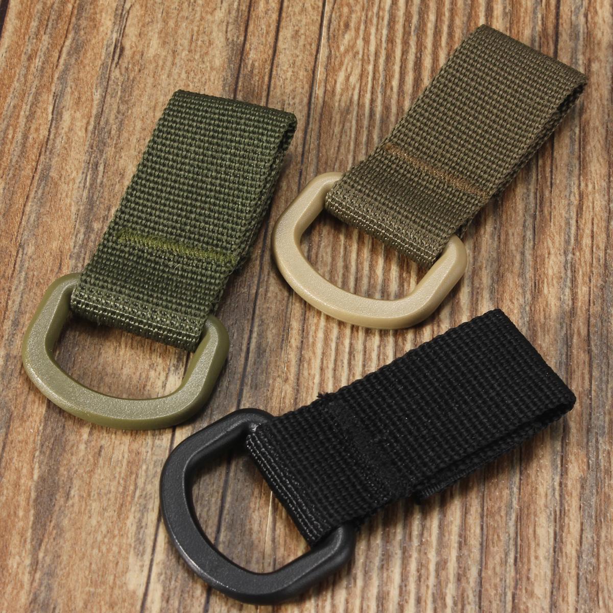 Military Tactical Carabiner Nylon Strap Buckle Hook Belt