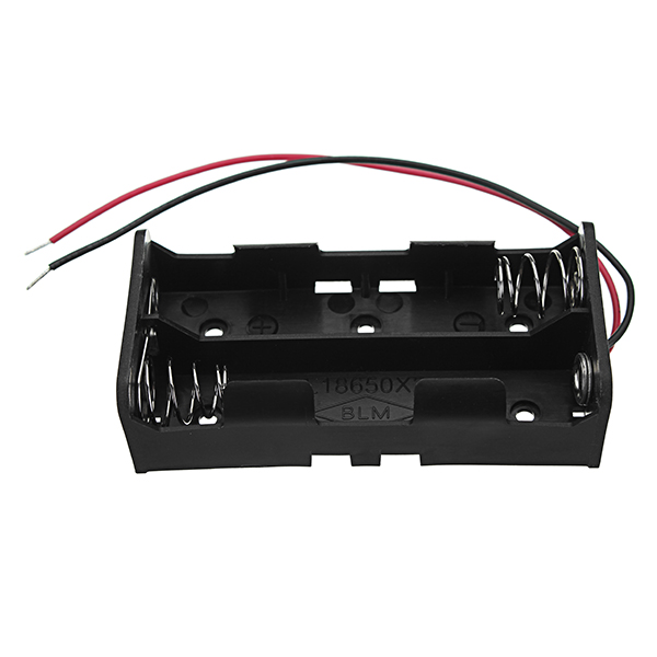 3pcs New Version DC 7.4V 2 Slot Double Series 18650 Battery Holder High Quality Battery Box Battery Case With 2 Leads And Spring CE RoHS Certification 13