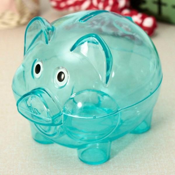 Pig Coin Money Banks Tank Plastic Cash Birthday Cute
