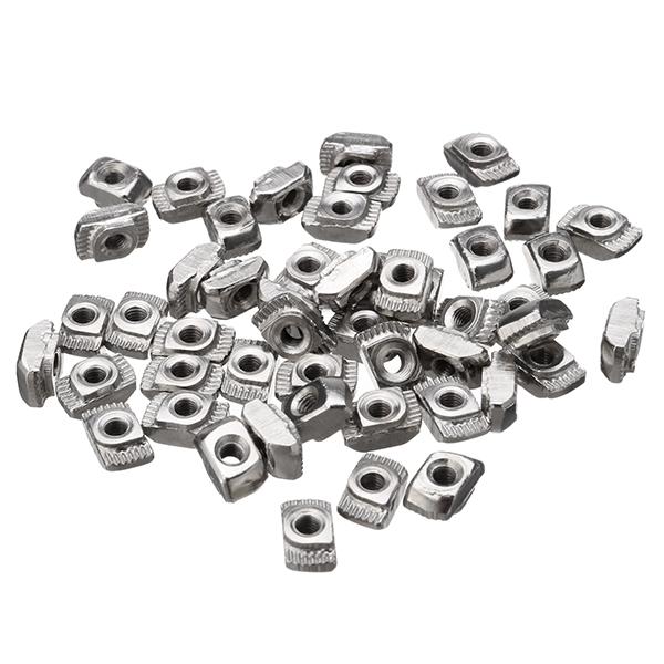 50pcs M3 T Sliding Nut Zinc Plated Carbon Steel T Sliding