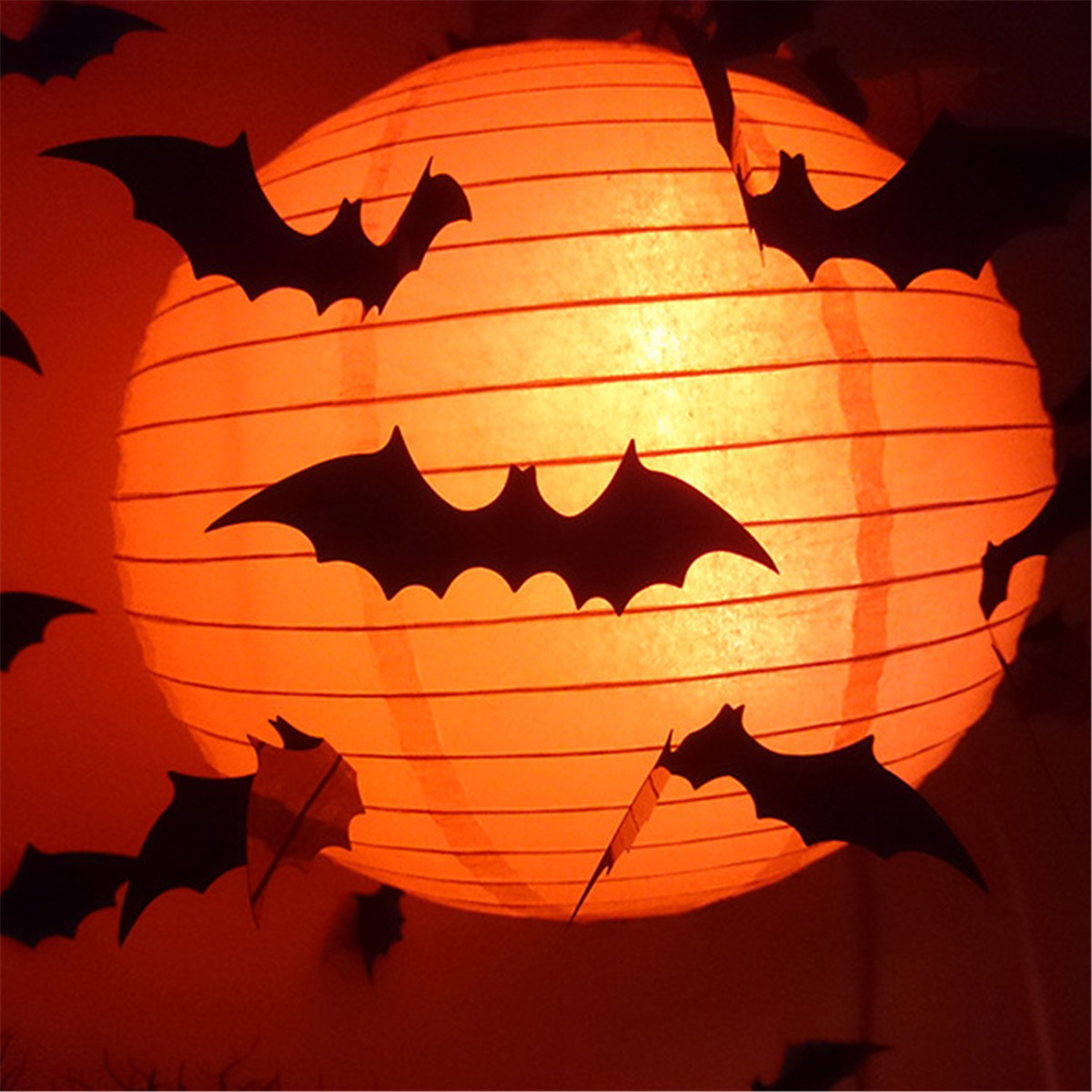 12pcs Halloween 3d Black Bat Wall Sticker Halloween Party