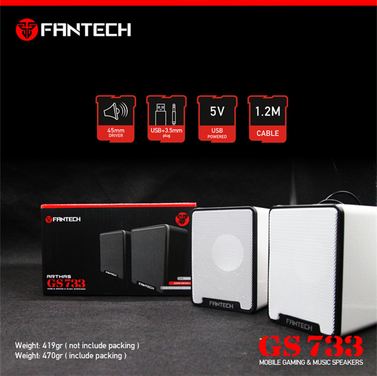 Fantech GS733 USB Wired Subwoofer Speaker Portable Sound Box 9
