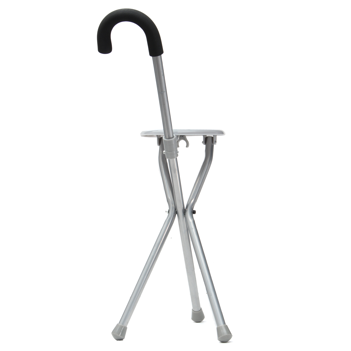 Walking Chair Outdoor Travel Folding Stool Cane Chair Portable Tripod