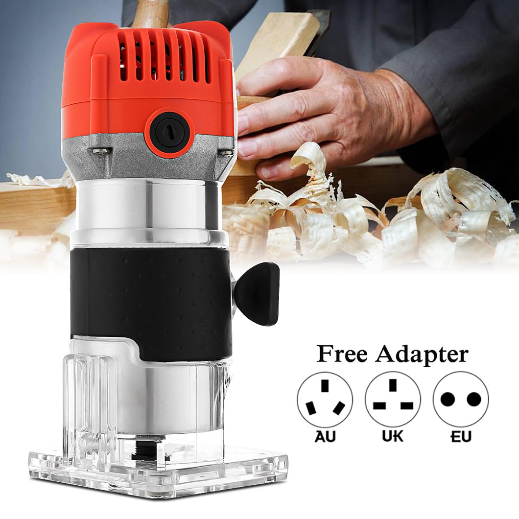 Raitool™ 800W 30000RPM Variable Speed Electric Hand Trimmer Wood Laminate Palm Router 31
