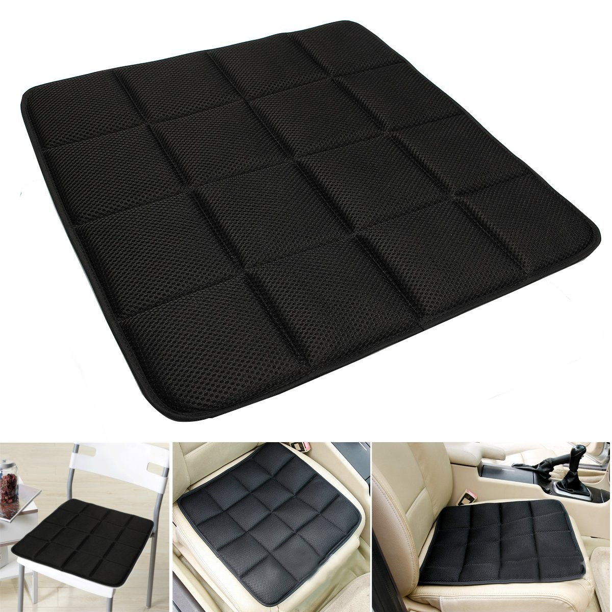 desk chair cover paper covers for folding chairs bamboo charcoal breathable seat cushion pad mat