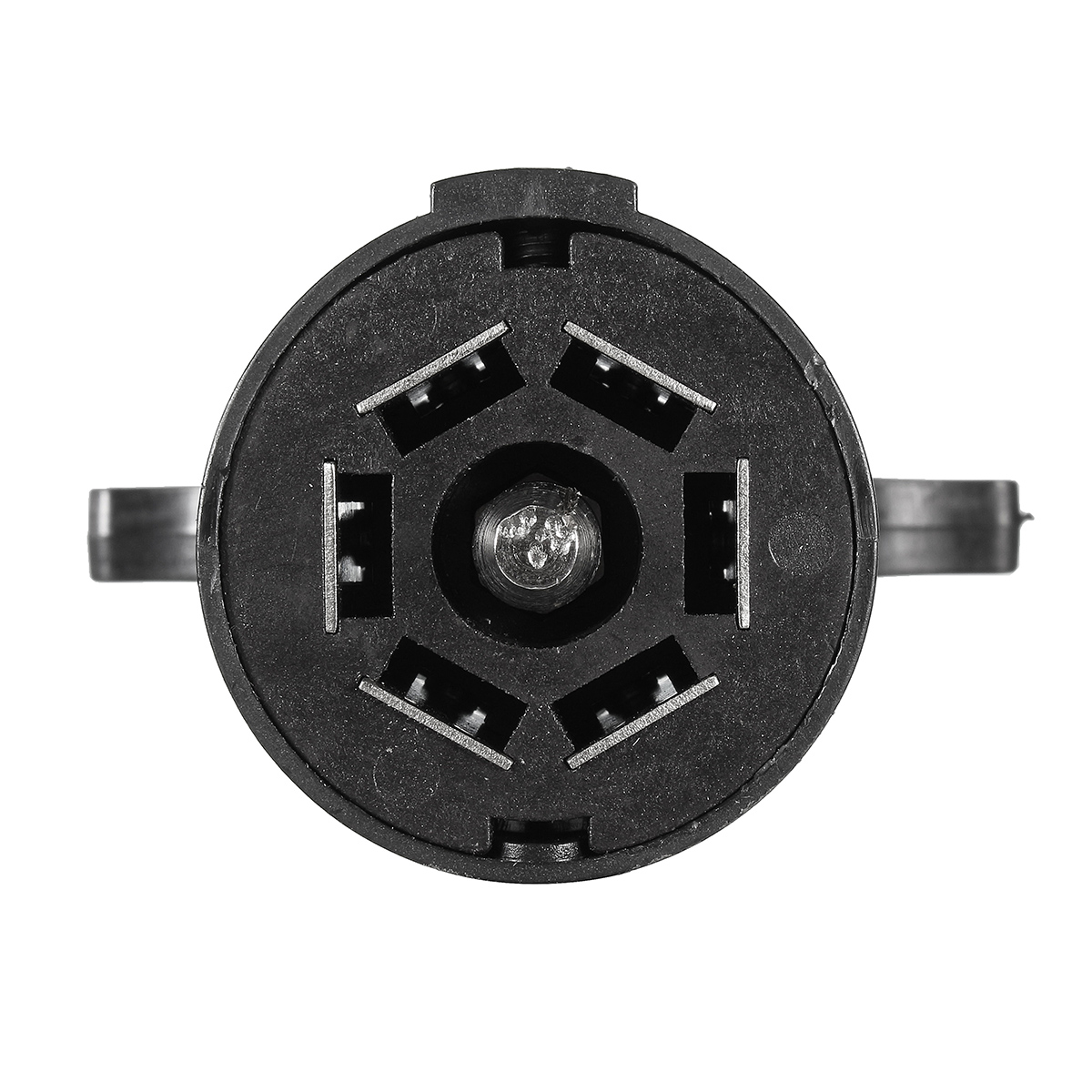trailer connector 1995 jeep wrangler parts diagram black round 7 poles rv male light plug