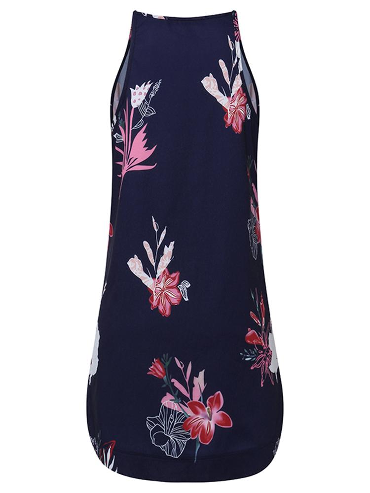 ZANZEA Sexy Women Off Shoulder Floral Printed Sleeveless Mini Dress