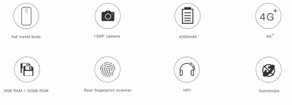 DOOGEE Y6 Max 6.5 Inch Fingerprint 3GB RAM 32GB ROM