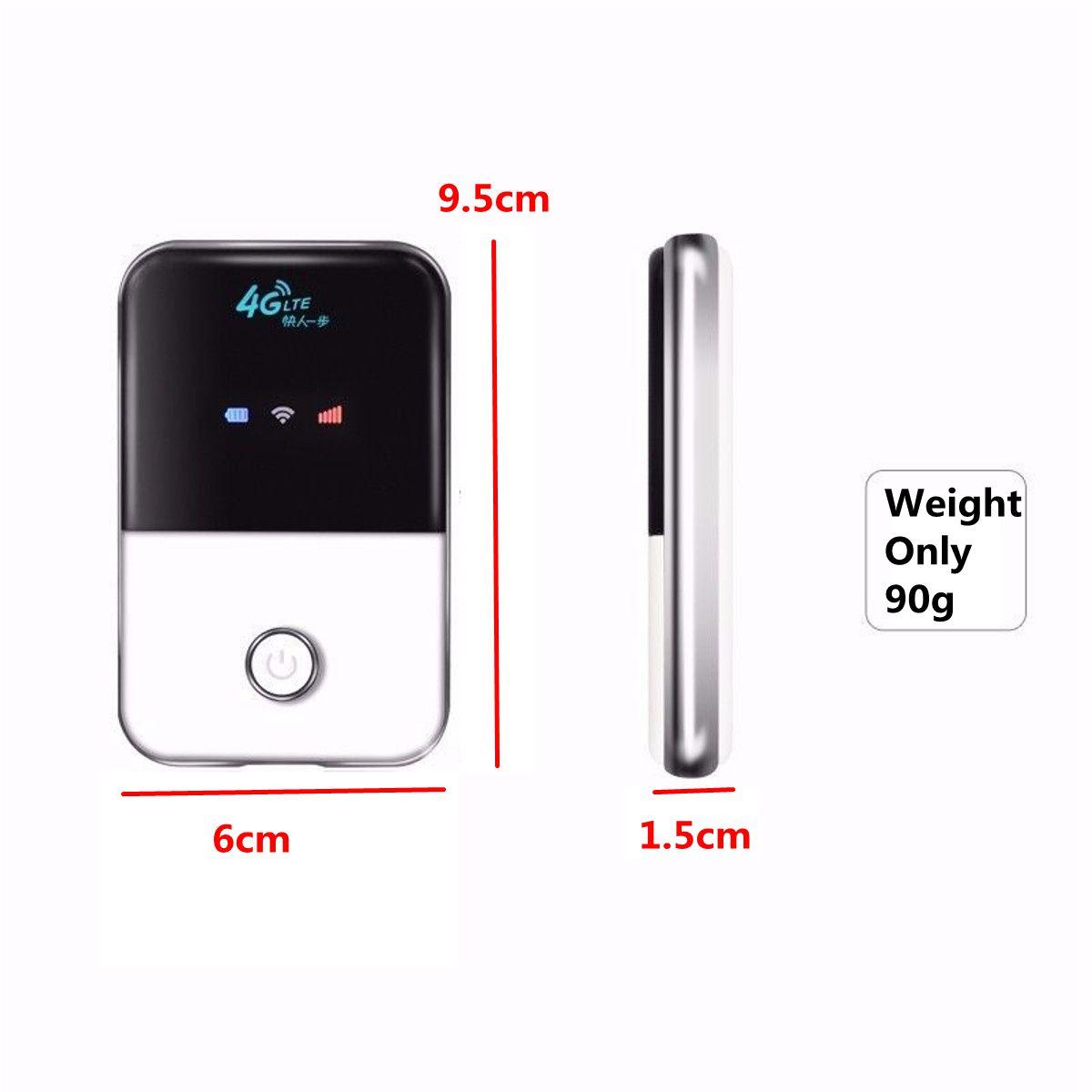 Router Portatile 3G 4G Wireless Senza Fili LTE 4G Router Mobile Hotspot WiFi con Slot per Scheda