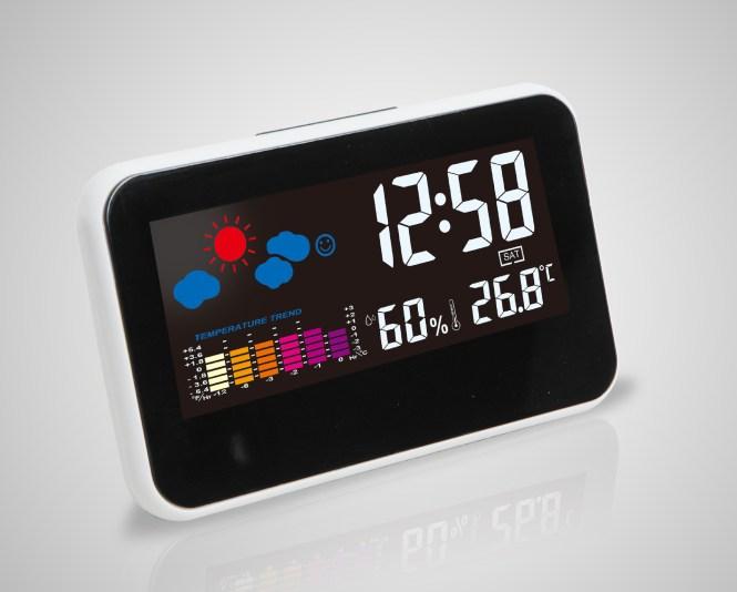 Small Yellow People Alarm Clock Led 7 Color Flash Digital Night Light Bedroom Clocks