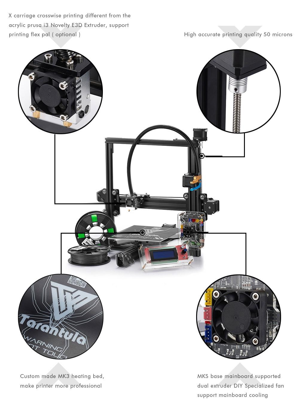 TEVO® Tarantula Prusa I3 DIY 3D Printer Kit With Auto