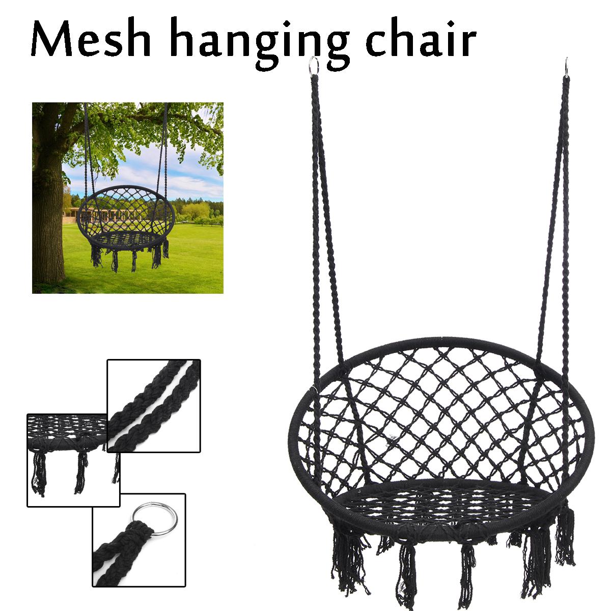 Outdoor Hanging Hammock Woven Rope Chair Seat Indoor