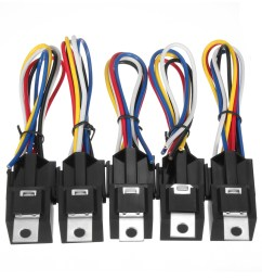10pcs dc 12v 30a 5pin relay interlocking sockets wires [ 1200 x 1200 Pixel ]