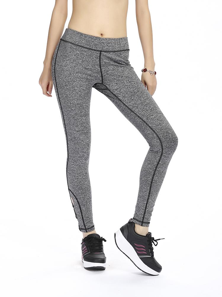 8ee0d7c43b6 Women Elastic Leg Cross Quick-drying Tight Running Yoga Workout Pants  Leggings