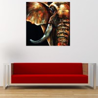 50x50cm Modern Abstract Huge Elephant Wall Art Decor Oil