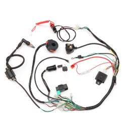 comes with regulator 4 wire ignition key ignition coil 5 pin cdi unit kill start light choke switch housing spark plug solenoid emergency safety  [ 1200 x 1200 Pixel ]