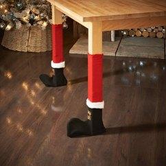 Santa Chair Covers Australia Poang Cushion 4pcs Christmas Red Table Legs Feet Sock Sleeve Cover