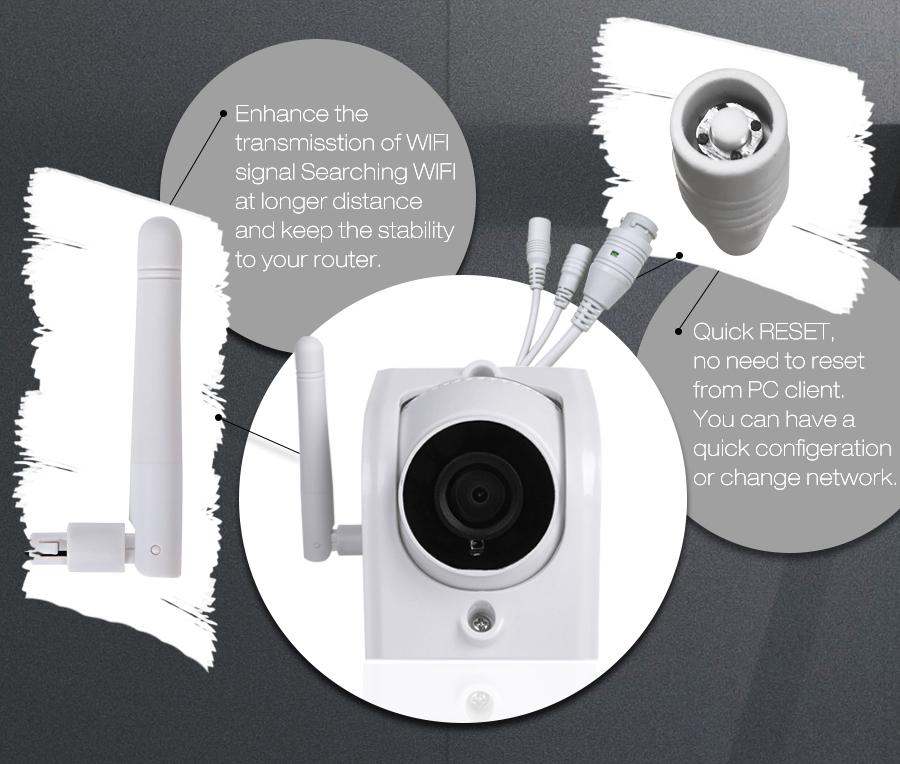 Digoo DG-W02f Cloud Storage 3 6mm Lens 720P Waterproof Outdoor WIFI  Security IP Camera Motion Detection Alarm Support Amazon Web Service Onvif  Monitor