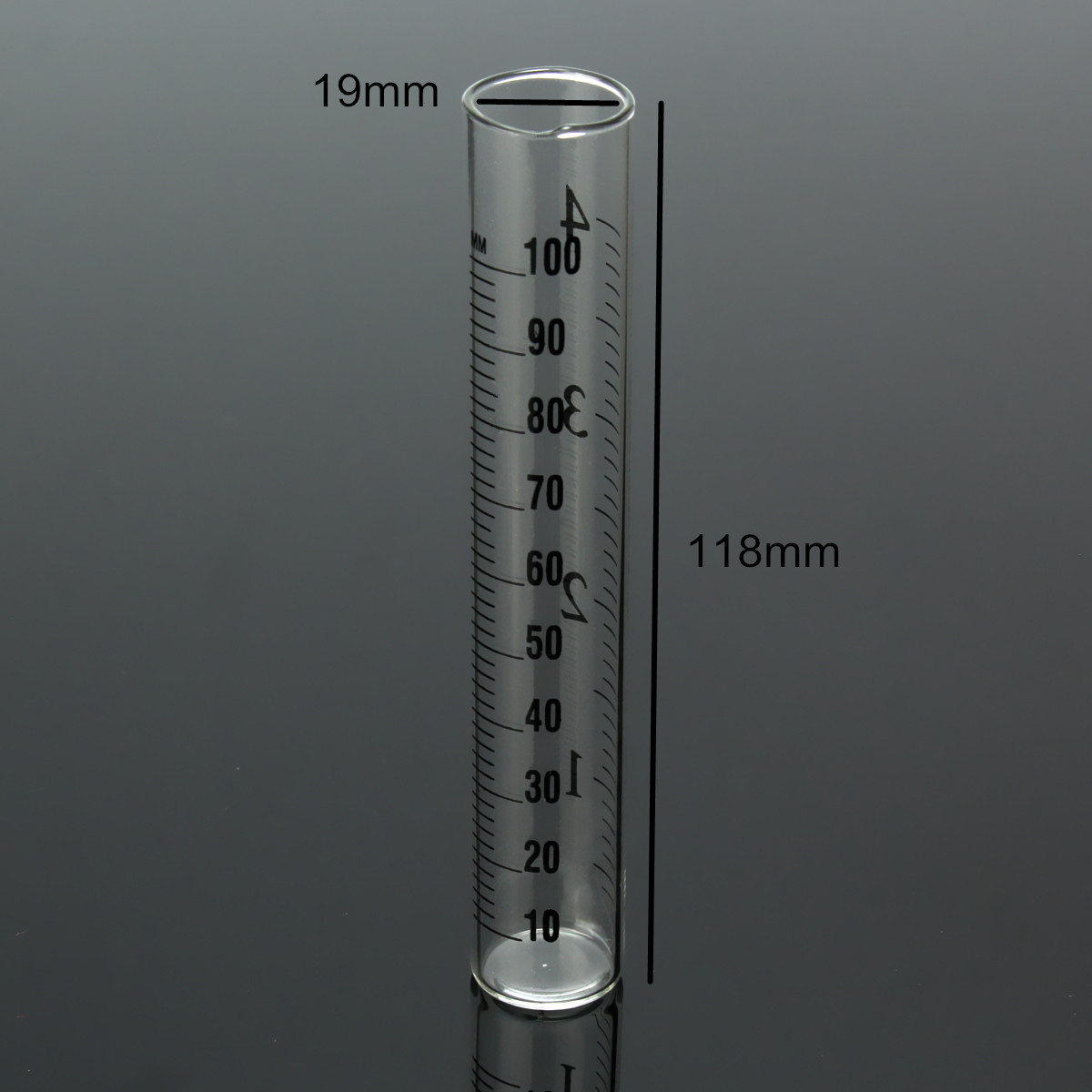 4 Inch Capacity Glass Rain Gauge Replacement Tube Outdoor Home