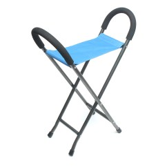 Walking Cane Seat Chairs Chair Standard Size Tables Ipree Multi Function Folding Pyramid
