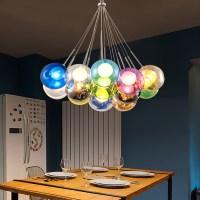 Modern LED Colorful Glass Bubbles Pendant Light Chandelier ...