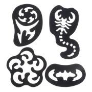 28pcs hair tattoo template