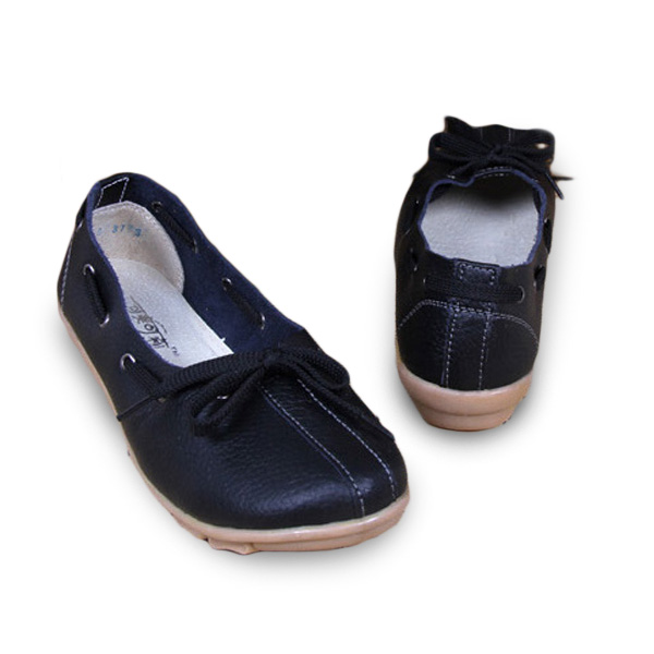 Women Casual Autumn Flats Round Toe Shoes Soft Bottom Flat Loafers