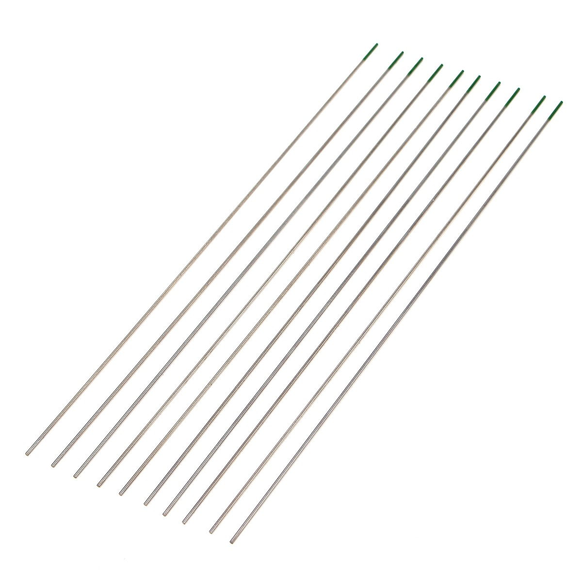 10Pcs 1mm x 175mm Green Tip Pure Tungsten Electrode For
