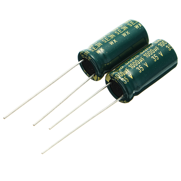 200pcs 35V 1000UF High Frequency Long Life Capacitor LCD Motherboard Power Supply Electrolytic Capacitor ROHS 10 x 20mm 13