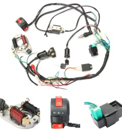 50cc 70cc 90cc 110cc cdi wire harness assembly wiring kit atv electric start quad [ 1200 x 1200 Pixel ]