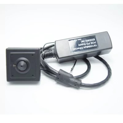 960P Audio Mini POE IP Camera H.264 Series 40X40MM Small 1.3 Megapixel With External POE Securiy 20