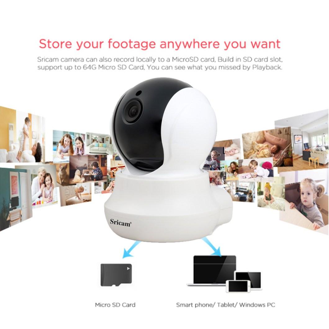 Sricam SP020 Wireless 720P IP Camera Pan&Tilt Home Security PTZ IR Night Vision WiFi Webcam 20
