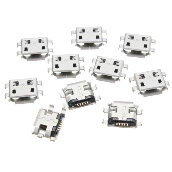 10pcs micro prise USB type B femelle 5pin 4legs connecteur