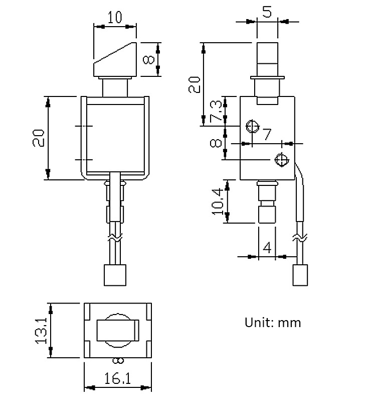 12V DC 0.43A Mini Electric Bolt Lock Push-Pull Solenoid