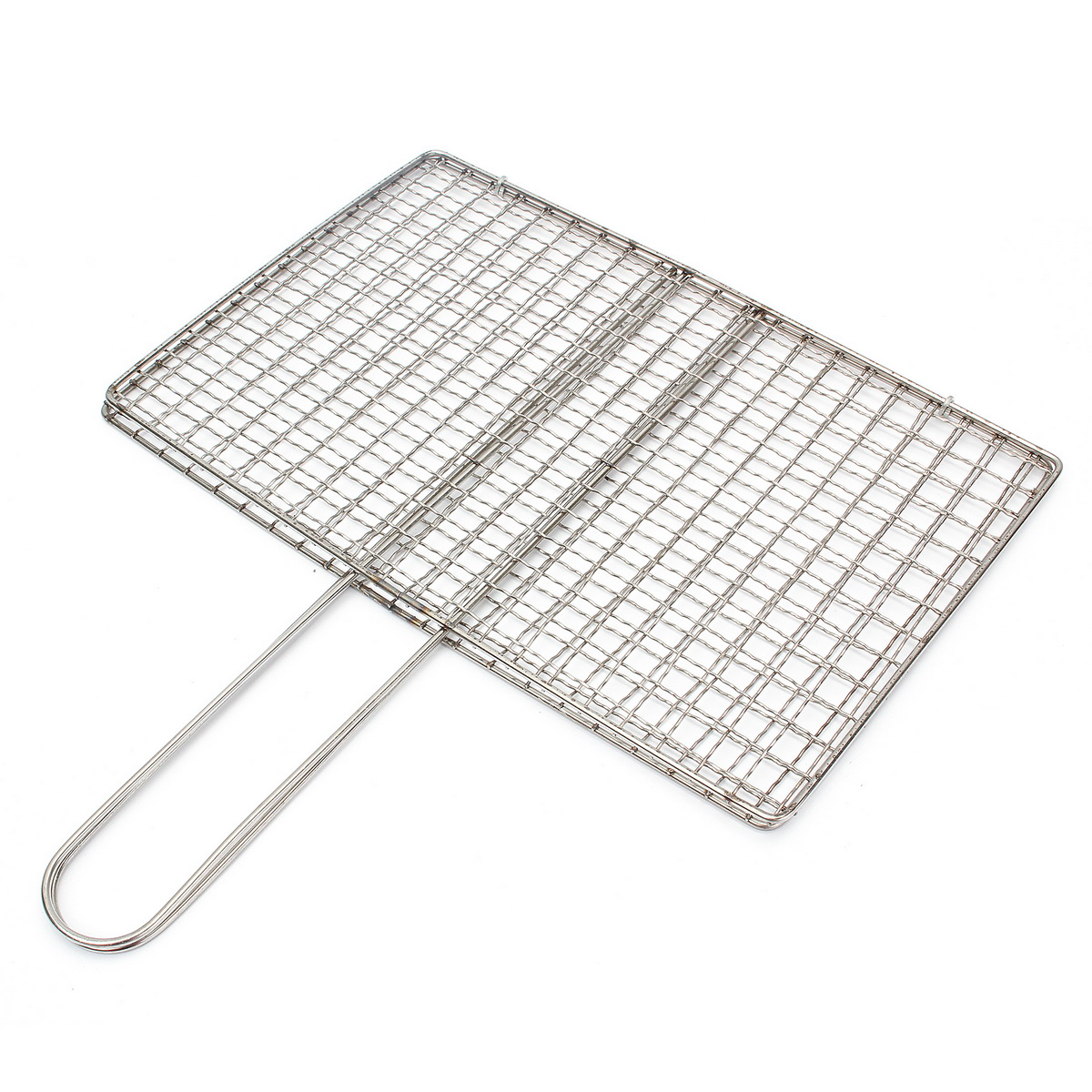 Outdoor Picnic Bbq Fish Meat Grill Stainless Steel Net