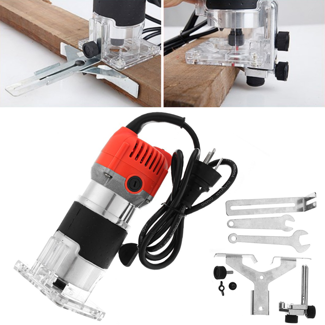 Raitool™ 800W 30000RPM Variable Speed Electric Hand Trimmer Wood Laminate Palm Router 32
